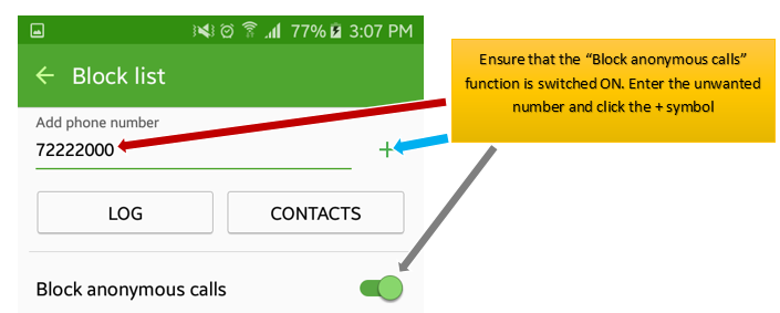 How do I block unwanted callers on my smartphone? – Mobile - PNG