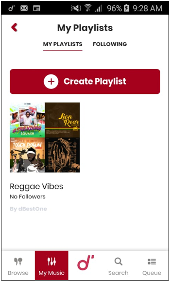 How to manage my playlist – Mobile - Grenada