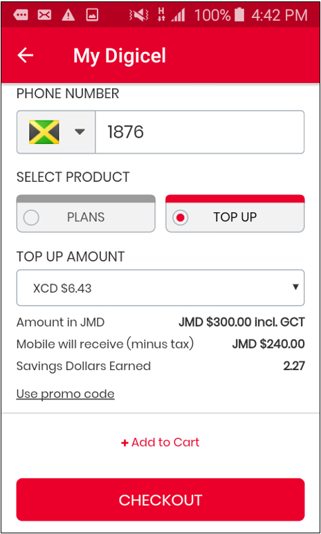 How can you add credit to your account with My Digicel App – Mobile